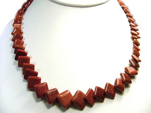 Design 836: brown goldstone necklaces