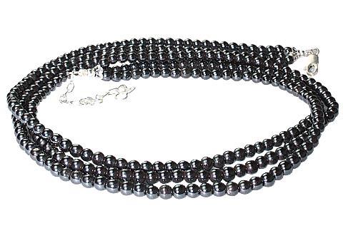 Design 8394: gray hematite multistrand necklaces