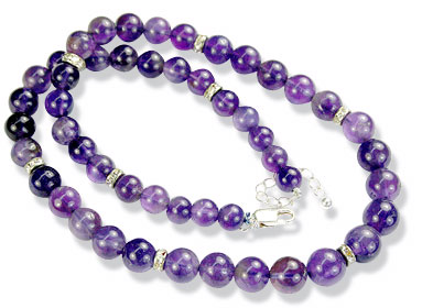 Design 8471: purple amethyst necklaces