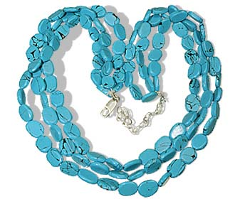 Design 8850: blue turquoise multistrand necklaces