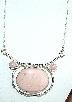 Design 8906: pink opal pendant necklaces