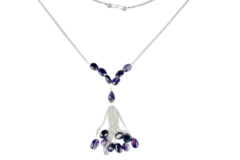 Design 9025: purple amethyst necklaces