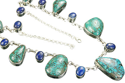 Design 9030: blue,green turquoise choker, chunky, contemporary necklaces