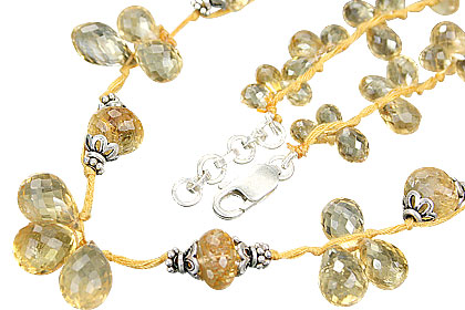 Design 9095: yellow citrine necklaces