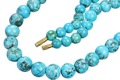 Design 9186: blue turquoise simple-strand necklaces