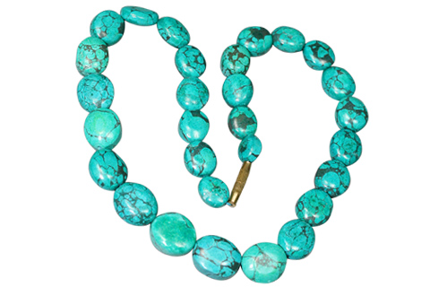 Design 9187: Green turquoise necklaces