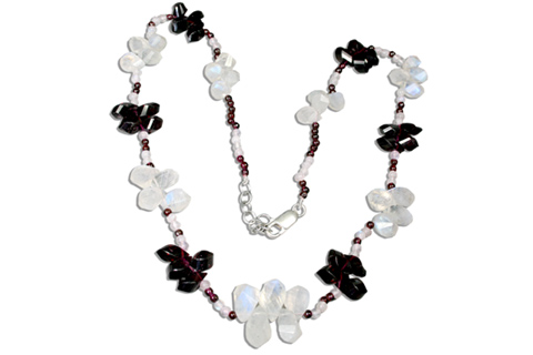 Design 9204: white moonstone necklaces