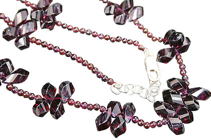 Design 9205: red garnet necklaces