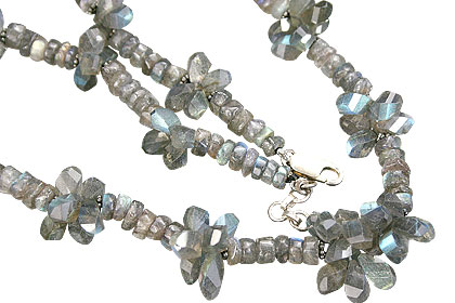 Design 9206: blue labradorite necklaces