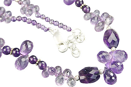 Design 9223: purple amethyst necklaces