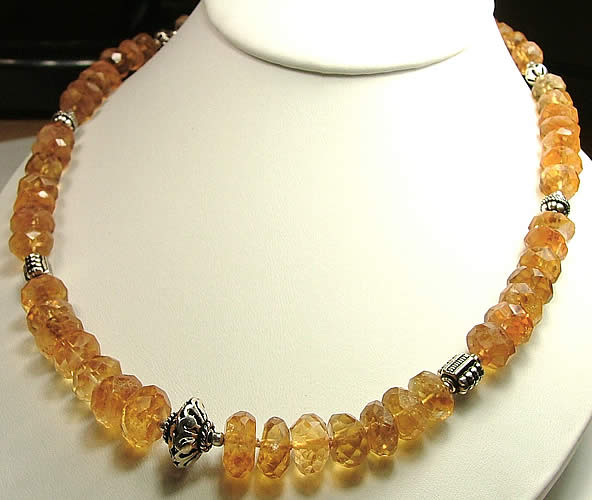 Design 926: yellow citrine necklaces