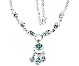 Design 9994: blue blue topaz pendant necklaces