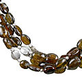 Design 1315: brown tourmaline multistrand necklaces
