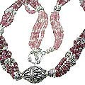 Design 14071: pink tourmaline classic necklaces