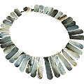 Design 15058: gray shell staff-picks necklaces