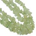 Design 16356: green prehnite multistrand necklaces