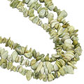Design 16404: green,white aventurine chipped necklaces