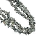 Design 16405: black,white aventurine chipped necklaces