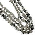 Design 16415: black,white rutilated quartz multistrand necklaces
