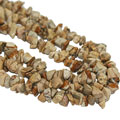 Design 16417: black,brown,white jasper multistrand necklaces