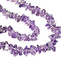 Design 5513: purple amethyst chipped necklaces