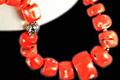 Design 6308: orange coral chunky necklaces