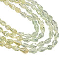 Design 7617: green prehnite drop, multistrand necklaces