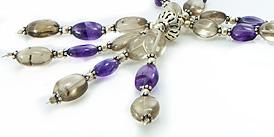 Design 998: gray,purple amethyst pendant necklaces