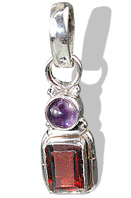 Design 1069: purple,red garnet pendants