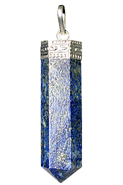 Design 1079: blue lapis lazuli pencil pendants