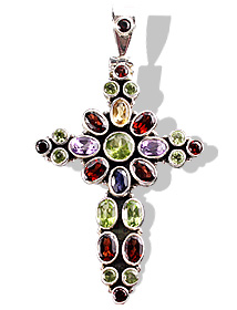 Design 1197: green,red peridot christian pendants