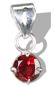 Design 1249: red garnet mini pendants