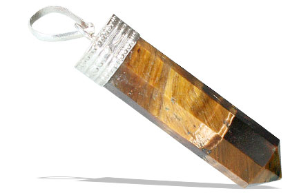 Design 1259: brown tiger eye pencil pendants