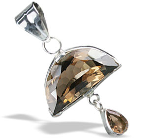 Design 13046: brown smoky quartz pendants