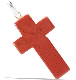 Design 13158: red jasper christian pendants