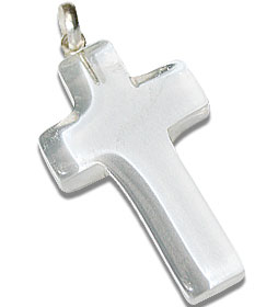 Design 13159: white crystal christian pendants