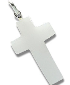 Design 13160: white quartz christian pendants