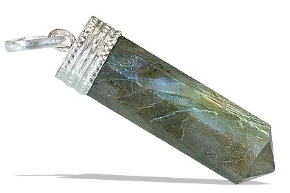 Design 13185: blue,green,gray labradorite pencil pendants