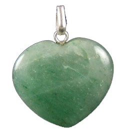 Design 1326: green aventurine heart pendants