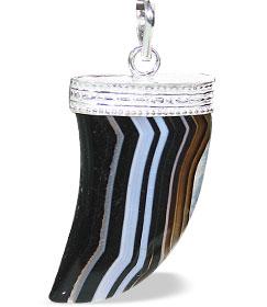 Design 1327: black onyx claw pendants