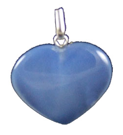 Design 1329: blue onyx heart pendants