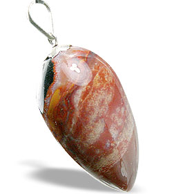 Design 1332: red sardonyx drop pendants