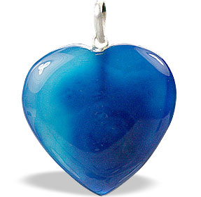 Design 1335: blue onyx heart pendants
