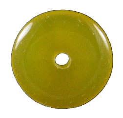 Design 1336: yellow onyx donut pendants