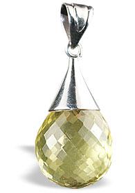 Design 13413: orange,yellow lemon quartz engagement pendants