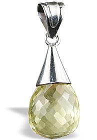 Design 13414: orange,yellow lemon quartz engagement pendants