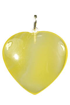 Design 1343: yellow onyx heart pendants