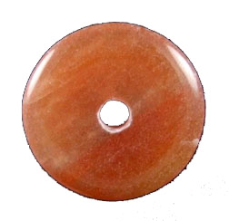 Design 1348: orange aventurine donut pendants