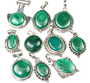 Design 13578: green bulk lots pendants