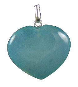 Design 1363: blue onyx heart pendants